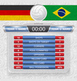 volleyball game statistics vector image vector image