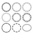 black round decorative frames - set vector image