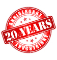 20 years anniversary stamp vector image