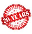 20 years anniversary stamp vector image
