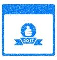 2017 Award Ribbon Calendar Page Grainy Texture vector image vector image