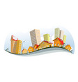 abstract city - winter vector image
