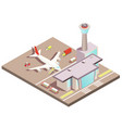 airport isometric design concept vector image vector image
