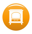 ancient oven icon orange vector image vector image