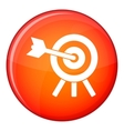 Arrow hit the target icon flat style vector image vector image
