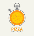 banner on theme pizza delivery vector image
