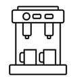 bar coffee machine icon outline style vector image vector image