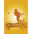 baseball poster2 vector image vector image