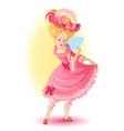 Beautiful fairy-tale princess girl vector image