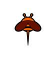 bee abstract logo icon vector image