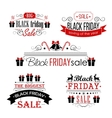 Black Friday Sale Calligraphic Designs set on vector image vector image