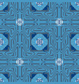blue ornamental greek seamless pattern ornate vector image vector image