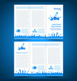 brochure folder water aqua splash bootle element vector image vector image