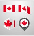 canada flag design set vector image