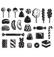 candy icon set simple style vector image vector image