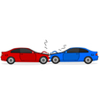 Car crash vector image vector image