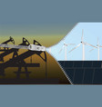 change to renewable energy eco-concept vector image vector image