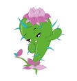 character beautiful cactus vector image vector image