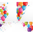 colorful celebration balloons background vector image vector image