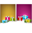 Colorful christmas banners with gift boxes vector image vector image