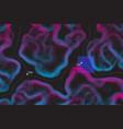 conceptual alien terrain topographic map vector image vector image