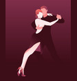 couple dancing passionate argentine tango vector image vector image