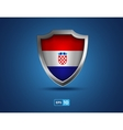 Croatia shield on the blue background vector image vector image