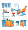 dentist cabinet stomatology room in clinic vector image