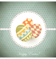 easter eggs - old postcard in vintage style vector image vector image
