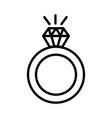 engagement ring icon on white background vector image