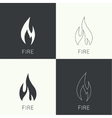 Fire flames Icon vector image vector image