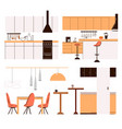flat collection home kitchen modern vector image vector image
