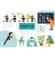 flat startup and investment composition vector image vector image
