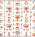 floral scandi folk art vector image