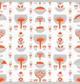 floral scandi folk art vector image vector image