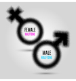 Gender halftone symbols vector image