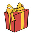 gift box icon cartoon vector image vector image