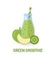 green smoothie in jar vector image