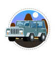 grey offroad truck icon vector image