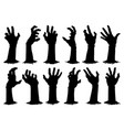 halloween zombie hands spooky haunted arms appear vector image vector image