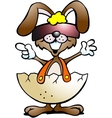Hand-drawn of an funny rabbit with cool sunglass vector image vector image