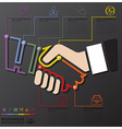 Hand Shake Connection Timeline Business vector image vector image