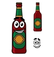Happy beer pint cartoon vector image vector image