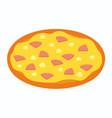 hawaiian pizza for restaurants or pizzerias vector image