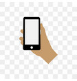holding phone design template vector image