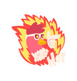 hot spicy fire chicken wearing cool sunglasses vector image vector image