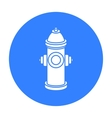 Hydrant icon in black style for web vector image