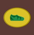 icon in flat design fashion footwear sport shoes vector image vector image