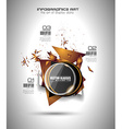 Infographic Layout for infocharts item vector image vector image