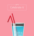 lets celebrate it summer club advertising poster vector image vector image